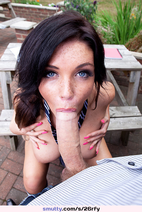 Blue Eyed Amateur Blowjob